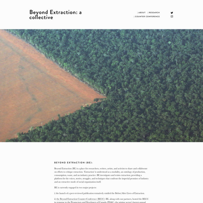About — Beyond Extraction: a collective