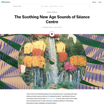 The Soothing New Age Sounds of Séance Centre