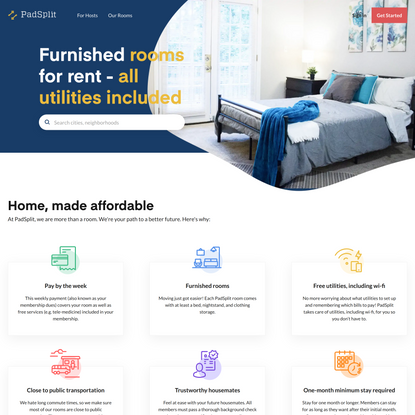 PadSplit: Affordable Rooms for Rent, Homes, Weekly Rentals & More