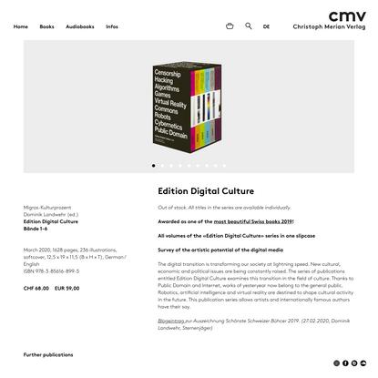 Edition Digital Culture - Christoph Merian Verlag