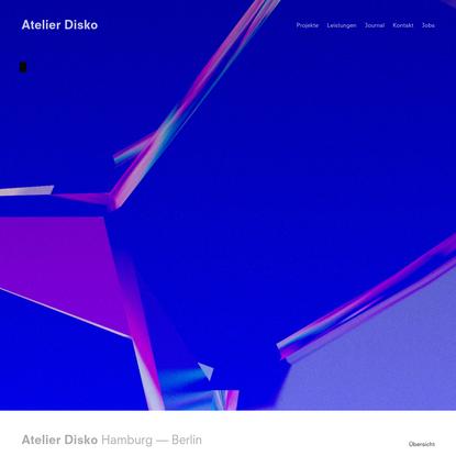 Atelier Disko - Studio für Design und Software in Hamburg und Berlin