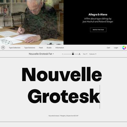 Nouvelle Noire: Swiss Type Foundry