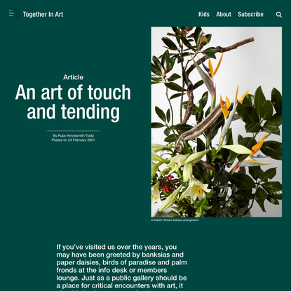 An art of touch and tending – Together In Art