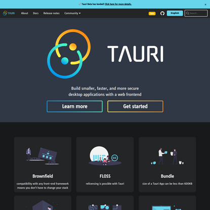 Build smaller, faster, and more secure desktop applications with a web frontend | Tauri Studio
