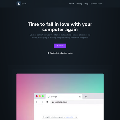 Stack is a smart browser for internet multitaskers. Manage all your social media, messaging, e-mailing, and productivity app...