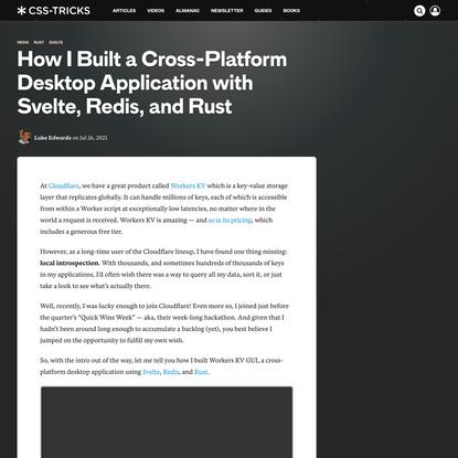 How I Built a Cross-Platform Desktop Application with Svelte, Redis, and Rust