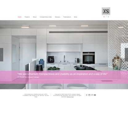 XS studio for compact design