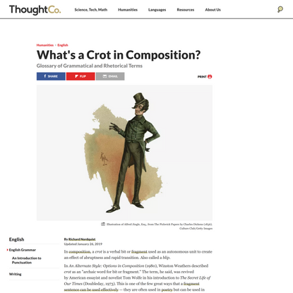 Crots in Composition: Deliberate Fragments