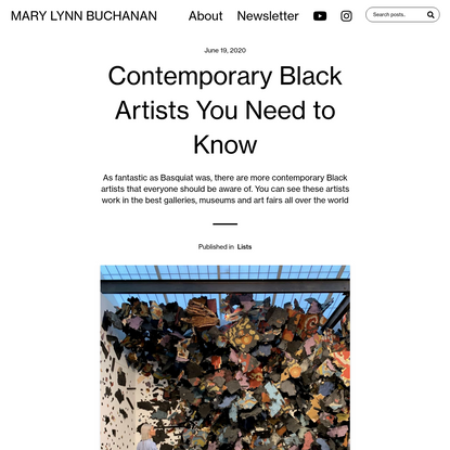 Contemporary Black Artists You Need to Know