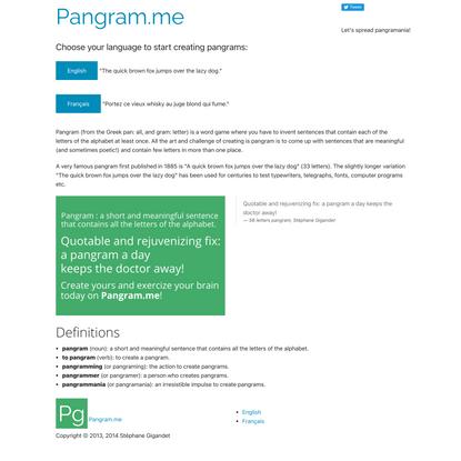 Pangram.me
