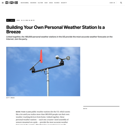 Building Your Own Personal Weather Station Is a Breeze