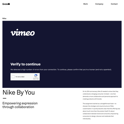 Nike By You — Gretel