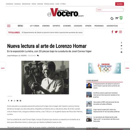 Nueva lectura al arte de Lorenzo Homar