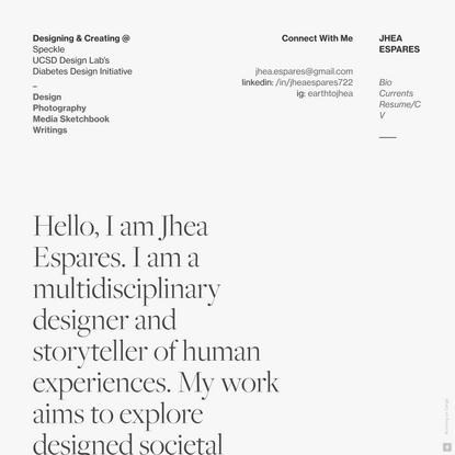 Jhea Espares - UX & Creative Portfolio