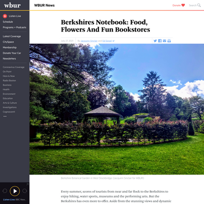 Berkshires Notebook: Food, Flowers And Fun Bookstores