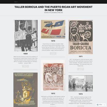 Taller Boricua and the Puerto Rican Art Movement in New York