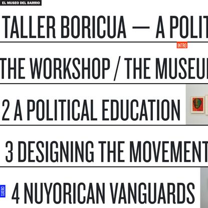 El Museo del Barrio - Taller Boricua