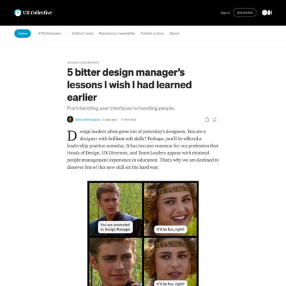 5 bitter design manager's lessons I wish I had learned earlier
