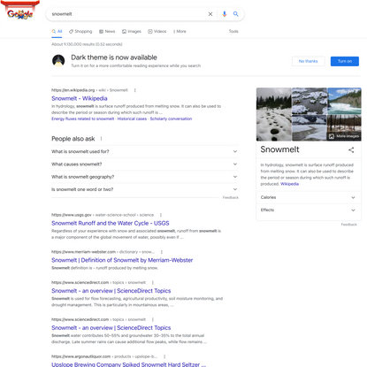 snowmelt - Google Search