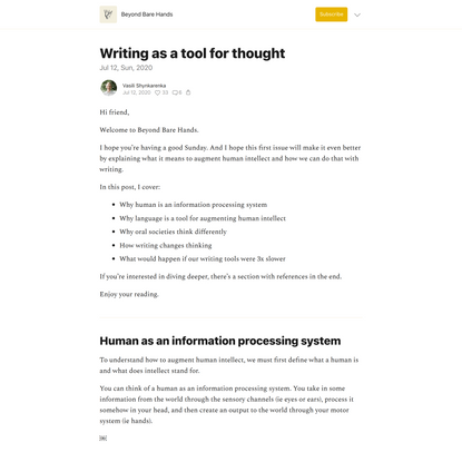 Writing as a tool for thought
