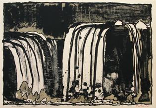 Chute Blanche, 1977. Alechinsky