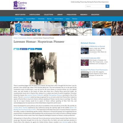Lorenzo Homar: Nuyorican Pioneer | Centro de Estudios Puertorriqueños