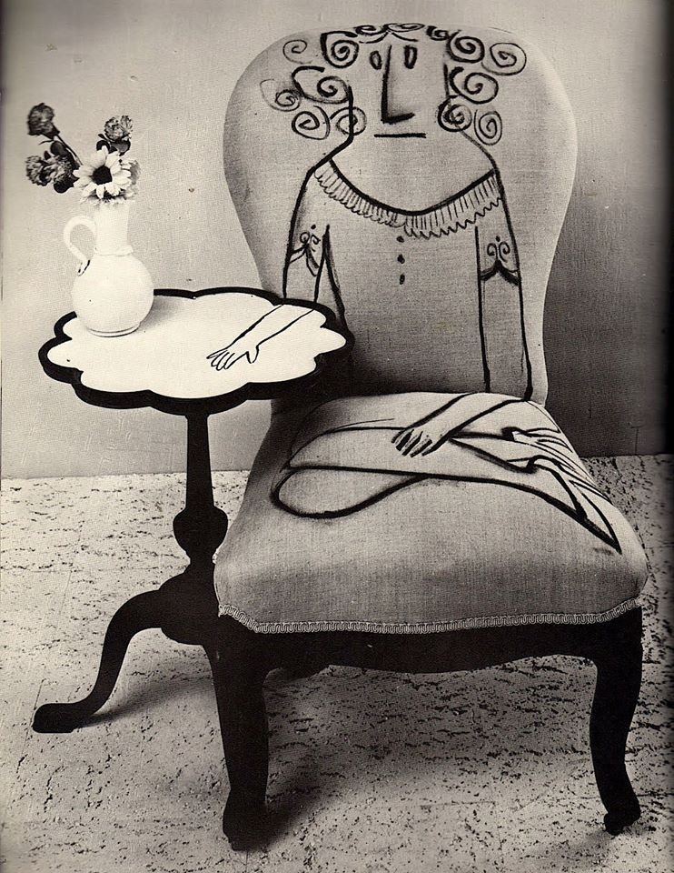 Saul Steinberg, Page from Flair, March 1950, p. 88.