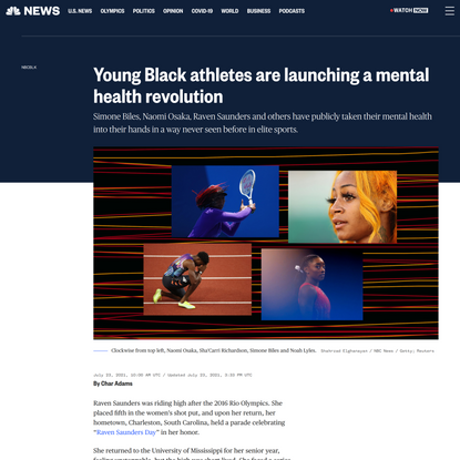 Young Black athletes are launching a mental health revolution