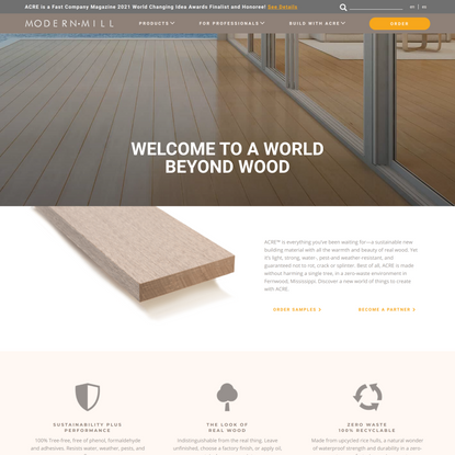Modern Mill | New material with all the warmth and beauty of real wood