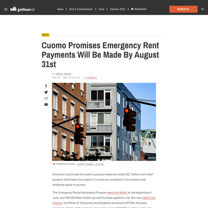 Cuomo Promises Emergency Rent Payments Will Be Made By August 31st - Gothamist