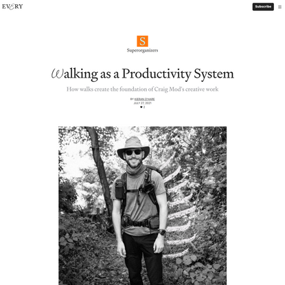 Walking as a Productivity System - Superorganizers - Every