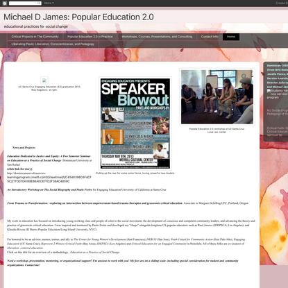 Michael D James: Popular Education 2.0