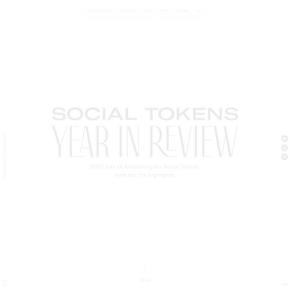 Social Tokens Year in Review