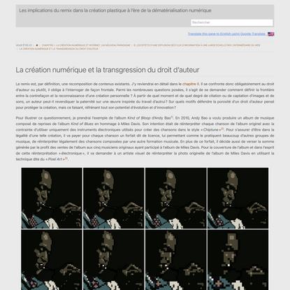 La création numérique et la transgression du droit d'auteur - Les implications du remix dans la création plastique à l'ère d...