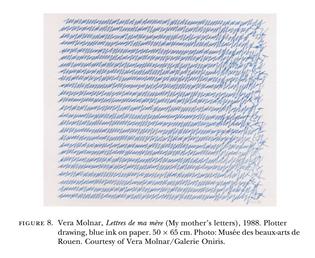 Vera Molnar, Lettres de ma mere (My mother's letters) [pdf]
