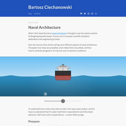 Naval Architecture – Bartosz Ciechanowski