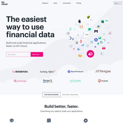 IEX Cloud | Financial Data Infrastructure