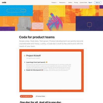 Coda for product teams
