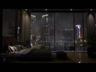 Spend The Night In An Exclusive Luxury Apartment | Heavy Rain & Thunder Sounds Outside | 4K