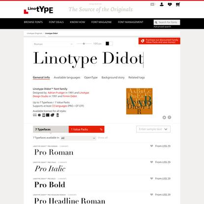 Linotype Didot™ font family | Linotype.com