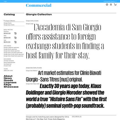 Commercial Type » Catalog » Giorgio Collection