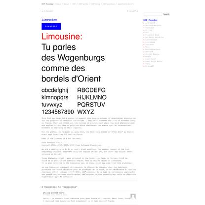 OSP-foundry» Blog Archive » Limousine