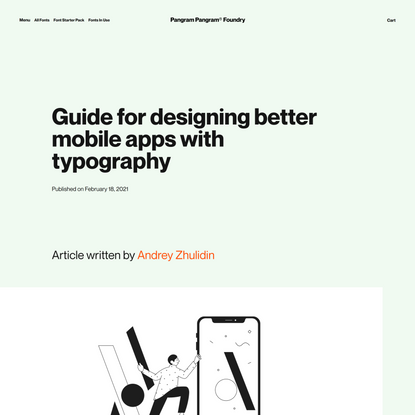 Guide for designing better mobile apps with typography