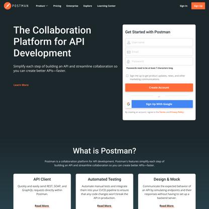 Postman   The Collaboration Platform for API Development