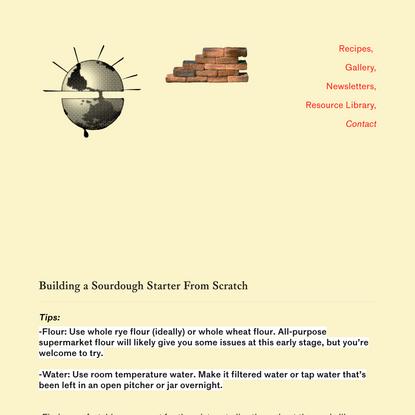Sourdough Starter From Scratch — Bread on Earth