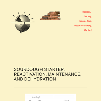 Sourdough Drying / Activation / Maintenance / etc. — Bread on Earth