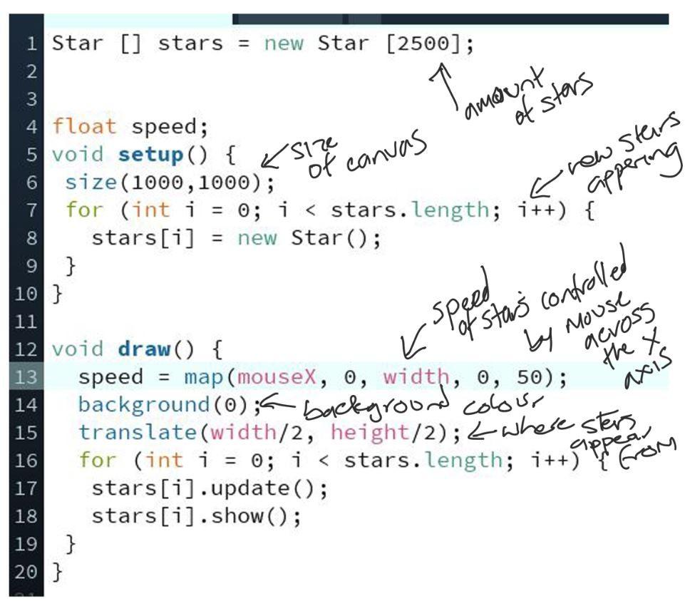 Star Field Code