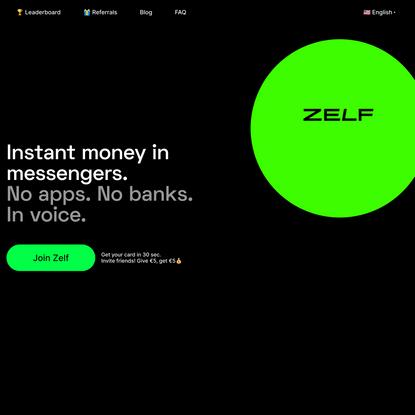 Zelf – Instant Money in Messengers