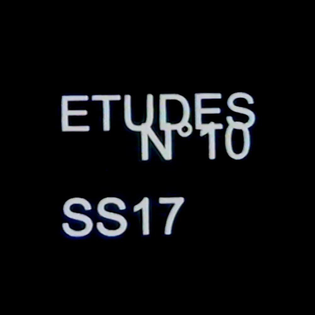 ETUDES N°10 SS17