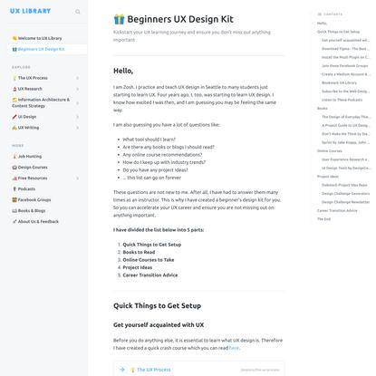 🎁 Beginners UX Design Kit